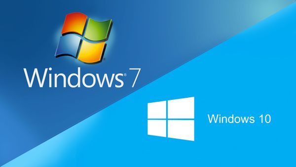 Windows 7 vers Windows 10
