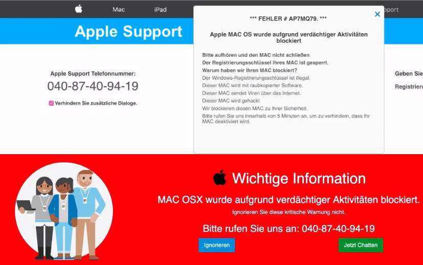 Arnaque support Apple